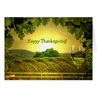 Thanksgiving Wine and Vineyard Greeting Card