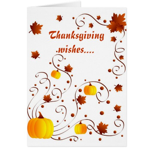 Thanksgiving wishes - Card