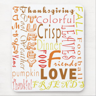 Thanksgiving Words Mousepad
