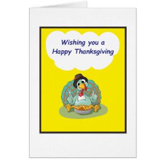 Thanksgiving Yellow Postcard
