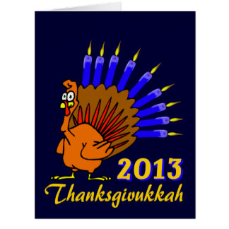 Thanksgivukkah 2013 Menurkey Greeting Cards