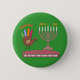thanksgivukkah 2 inch round button