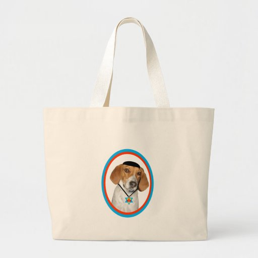 Thanksgivukkah Funny Hound Dog with Yamaka Canvas Bags