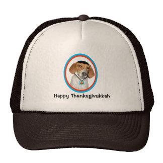 Thanksgivukkah Hat Funny Hound Dog with Yamaka