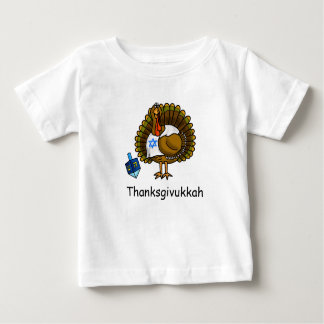 Thanksgivukkah Jewish Turkey Baby T-Shirt