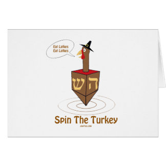 THANKSGIVUKKAH SPIN THE TURKEY HANUKKAH GIFTS CARD
