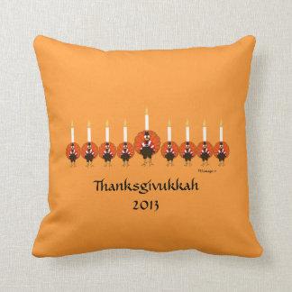 Thanksgivukkah Turkey Menorah Pillow