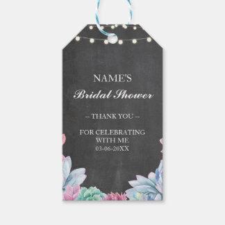 Thankyou Tag Favour Pastel Succulent Bridal Shower