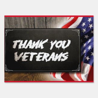 "Thankyou Vets Medium, 18"" x 24"" Yard Sign"