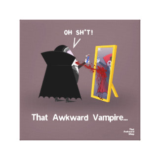That Awkward Vampire Canvas Print