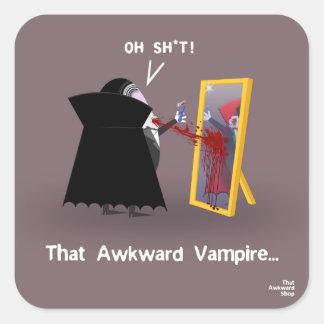 That Awkward Vampire Square Sticker