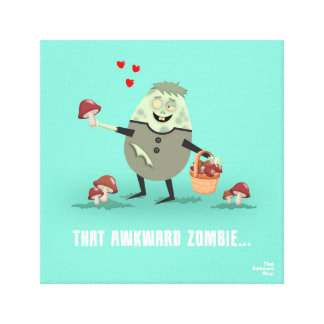 That Awkward Zombie Canvas Print
