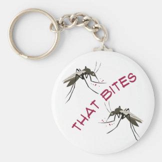That Bites Basic Round Button Keychain