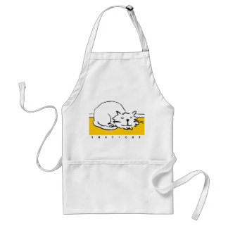 That Cat is sleeping. Standard Apron