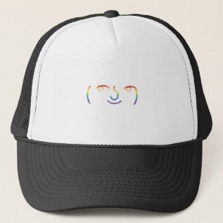 That face trucker hat