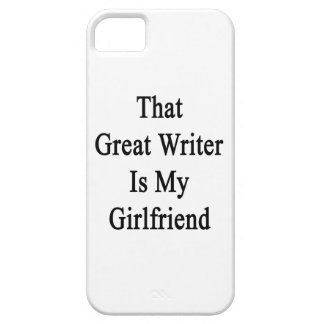 That Great Writer Is My Girlfriend iPhone 5 Covers