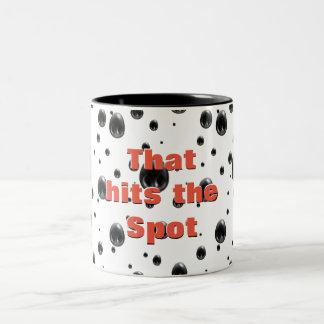 That hits the sneer Two-Tone coffee mug