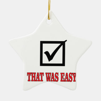 that was easy check ceramic star ornament