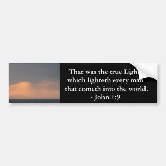 That was the true Light, which lighteth every man Bumper Sticker