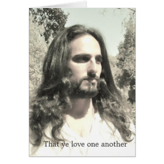 That ye love one another card