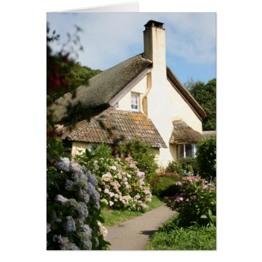 Thatched Cottage, Selworthy, Exmoor, Somerset, UK Card