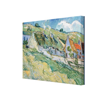 Thatched Cottages by Vincent van Gogh Canvas Print