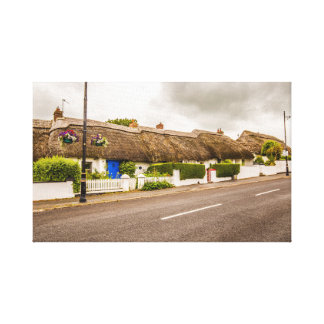 """Thatched cottages, Ireland"" wall art/canvas print"