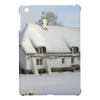 Thatched English Cottage in Snow iPad Mini Cases