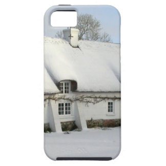 Thatched English Cottage in Snow iPhone 5 Cases