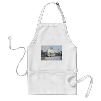 Thatched English Cottage in Snow Standard Apron
