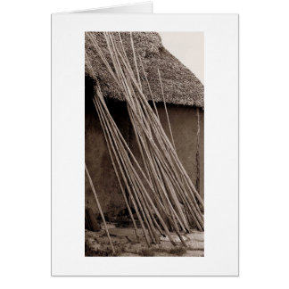 Thatched Hut Card