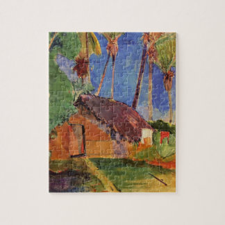 'Thatched Hut Under Palms' - Paul Gauguin Jigsaw Puzzle
