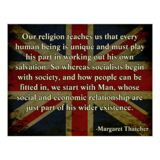 Thatcher Religion Quote Poster
