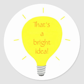 That's a bright idea, Yellow Light Bulb stickers