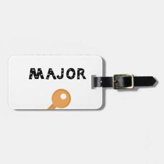 Thats a major key emoji luggage tag