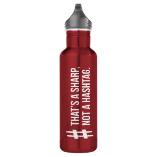 That's a sharp, not a hashtag. 710 ml water bottle