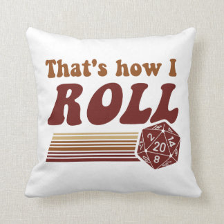 That's How I Roll Fantasy Gaming d20 Dice Pillows