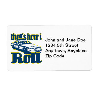 Thats How I Roll Police Shipping Label