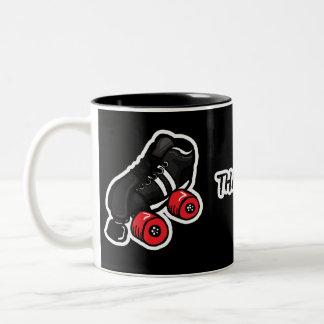 Thats how I roll quadskate edition Two-Tone Coffee Mug