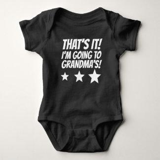 That's It I'm Going To Grandma's Baby Bodysuit