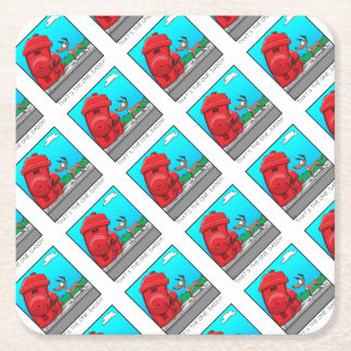 That's the one, Daddy! Square Paper Coaster