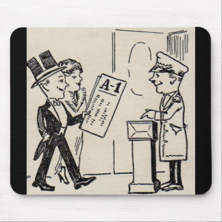 That's the Ticket - 1920s theatre cartoon Mouse Pad