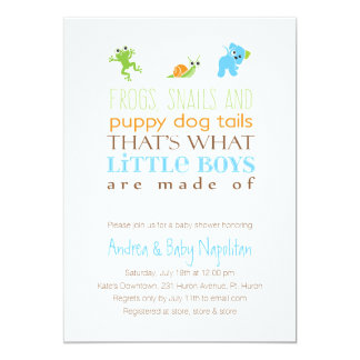 That's What Little Boys Are Made Of  | Baby Shower Card