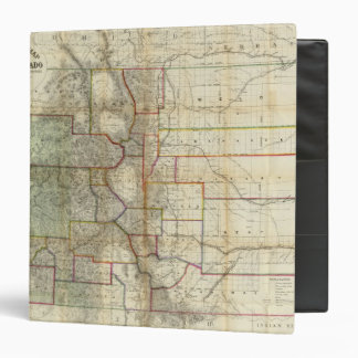 Thayer's New Map Of The State of Colorado Binders