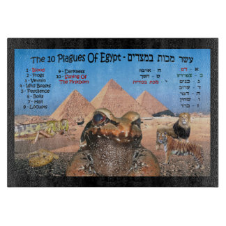 The 10 Plagues Of Egypt - Hebrew & English Boards