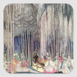The 12 Dancing Princesses in the Forest by Nielsen Square Sticker