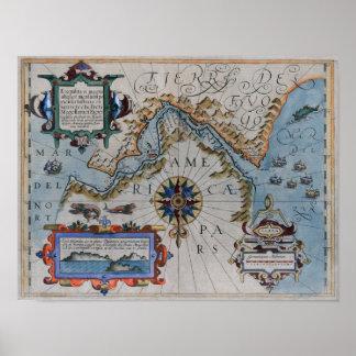 The 16th Century Ortelius Chart Print