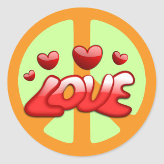 The 1960s: Peace and Love Sticker