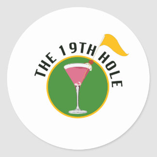 The 19th Hole Round Sticker