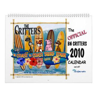 The 2010 BN Critters Calendar